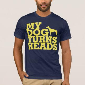 Camiseta Mi perro da vuelta al galgo de las cabezas