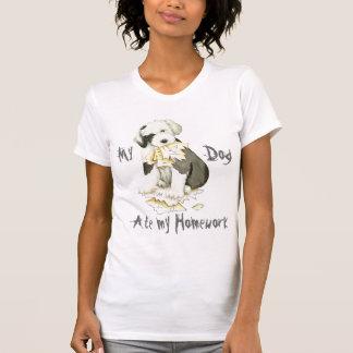 Camiseta Mi perro pastor inglés viejo comió mi preparación