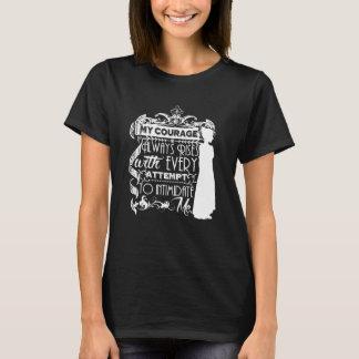 Camiseta Mi valor sube siempre cita de Jane Austen