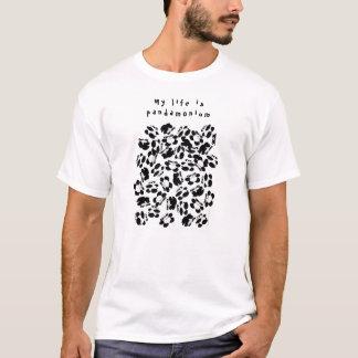 Camiseta Mi vida es panda-monium