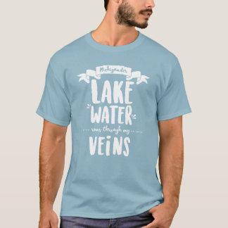 Camiseta Michigander - funcionamientos del agua del lago a