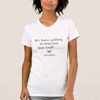 Camiseta Miedo de la araña cómica del dibujo animado de las
