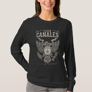 Camiseta Miembro del curso de la vida del equipo CANALES.