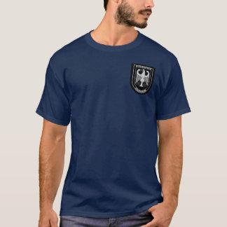 Camiseta militar alemana del servicio de incendios