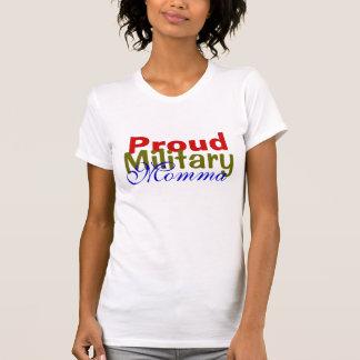 Camiseta militar orgullosa de Momma