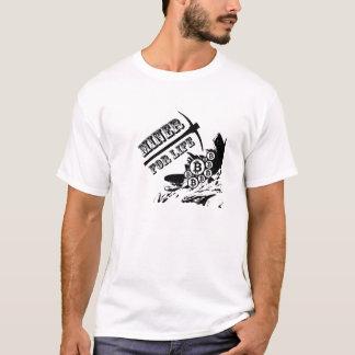 Camiseta Minero de Bitcoin para la vida