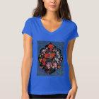 Camiseta Miniatura del arte persa con escudo de flores y av
