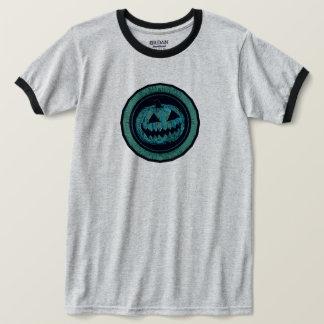 Camiseta Mirada llevada del verde de mar del octágono de la