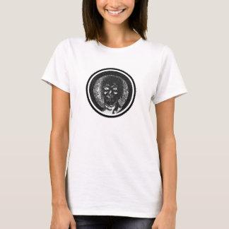 Camiseta Mire en mis ojos - circunde el negro y el blanco