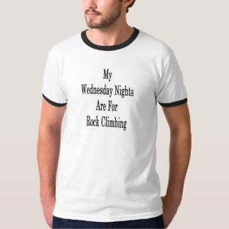 Camiseta Mis noches de miércoles están para la escalada