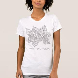 Camiseta Moda de la diversión del colorante del adulto de