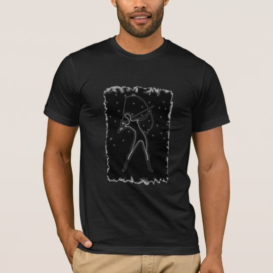 Camiseta moda del tiro al arco en los cielos