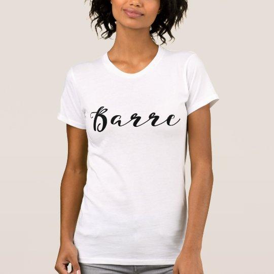 Camiseta Moda moderna de la caligrafía negra de moda de la