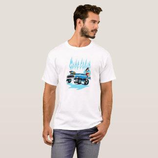 """Camiseta modela del coche de carreras """"azul"""""""