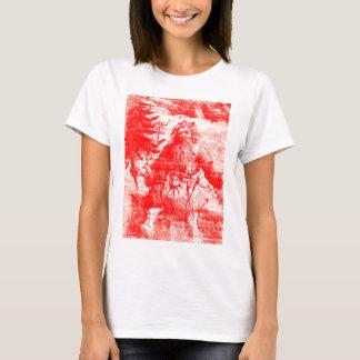 Camiseta Modelo colonial del período de Toile Papá Noel del