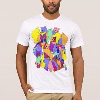 Camiseta Modelo colorido del gato
