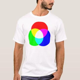 Camiseta Modelo de color del RGB