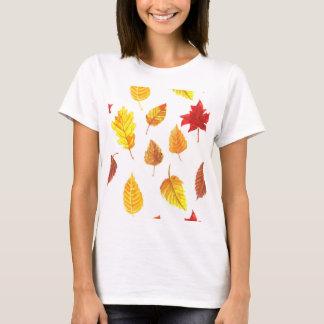 Camiseta Modelo de las hojas de otoño