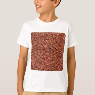 Camiseta modelo del detalle del pajote del cedro rojo