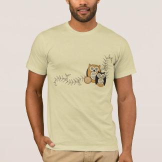 Camiseta moderna de los búhos