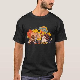 Camiseta Molde y logotipo Looney de la demostración de los