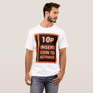Camiseta moneda del parte movible 10p