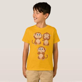 Camiseta Monkey ningún oyen ningún para ver ningún para