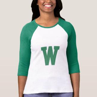 Camiseta Monograma verde y blanco del lunar