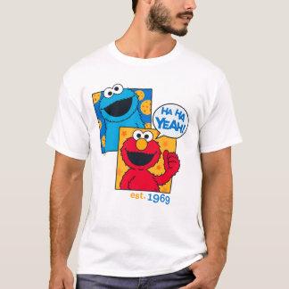 Camiseta Monstruo y Elmo de la galleta el   ha ha sí