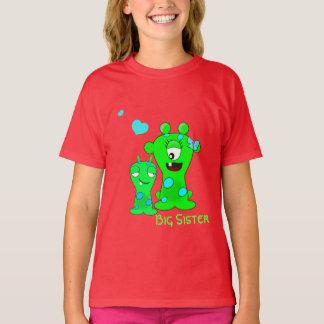 Camiseta Monstruos, hermana grande, dibujo animado de