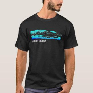 Camiseta Montaña del sur T del negro de la mota