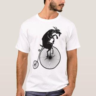 Camiseta Montar a caballo de la cabra en la bici del comino