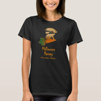 Camiseta Montar a caballo del conejito de Halloween en una