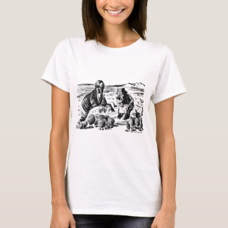 Camiseta Morsa, Carpeter y ostras