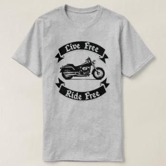 Camiseta Motocicleta libre de la silueta del pase gratis
