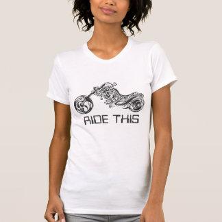 Camiseta Motocicleta tribal negra y blanca - Tex