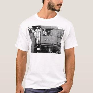 Camiseta Motor locomotor del tren del vapor del vintage del