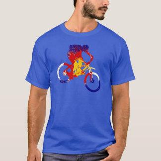 Camiseta Motorista de la montaña de la bandera de Colorado