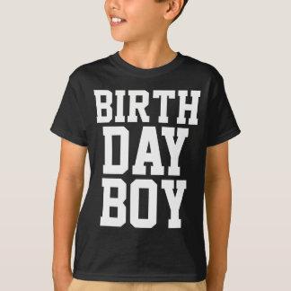 Camiseta Muchacho del cumpleaños (edad de encargo en la