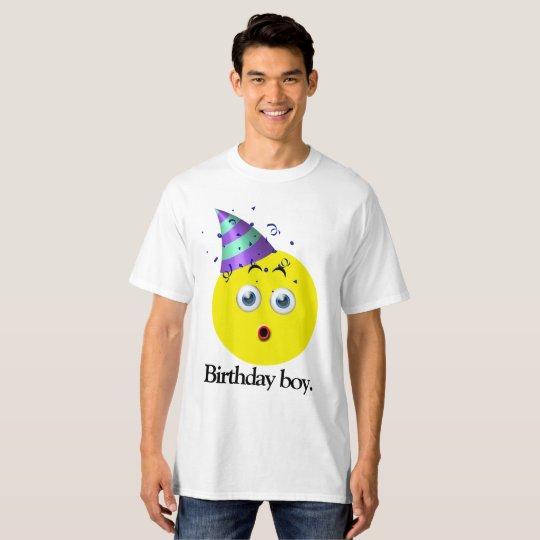 Camiseta Muchacho Emoji del cumpleaños