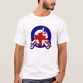 Camiseta Muchacho retro Reino Unido de la vespa de la MOD