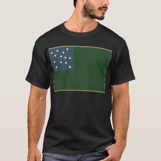 Camiseta Muchachos verdes de la montaña y la bandera de la
