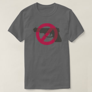 Camiseta Muestra anti del símbolo del arma de la violencia