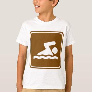 Camiseta Muestra de la carretera de la natación
