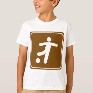 Camiseta Muestra de la carretera del campo de fútbol