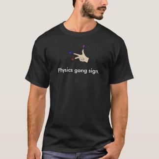 Camiseta Muestra de la cuadrilla de la física del producto