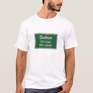 Camiseta Muestra del límite de ciudad de Dalton Georgia
