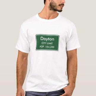 Camiseta Muestra del límite de ciudad de Dayton Ohio