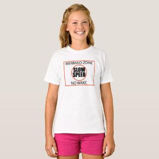 Camiseta Muestra despacio de la zona de la sirena