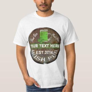 Camiseta Muestra irlandesa personalizada del pub